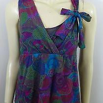 Daisy & Clover Anthropologie Multi-Color Sleeveless Woman Top Blouse Size M Photo
