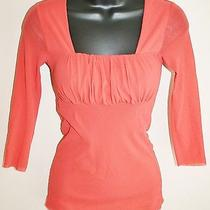 Daisy & Clover Anthropologie Salmon Mesh Layer Nylon Bust Enhancing Top Sz Xs Photo