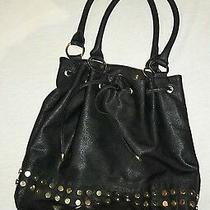 Daisy Fuentes Black With Gold Hobo Purse Photo