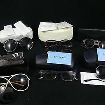 Damaged Sunglasses Lot - Balenciaga Tom Ford Nina Ricci Lanvin Ivory  Mason Photo