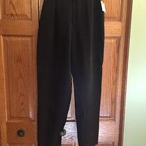 Dana Buchman Elements Pants Black Silk Zip Fly Womans Size 12 New Photo