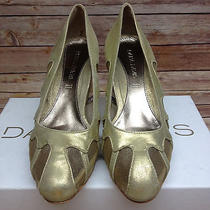 Dana Davis Layla Mesh Pump Platino Metallic Womens Size 7.5 M Us Photo