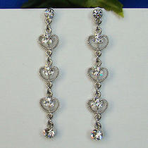 Dangle Earrings Clear Swarovski Crystal E1129 Photo