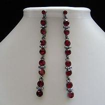 Dangle Earrings Siam Swarovski Crystal E1190 Photo