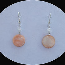 Dangle Earrings Swarovski Beads Shell Dise Beads E746 Photo