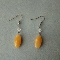 Dangle Earrings Swarovski Bi-Cone Bead Acrylic Peach Bead E736 Photo