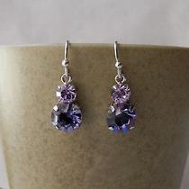 Dangle Earrings Violet & Tanzanite Swarovski Crystal Earrings E1214c Photo