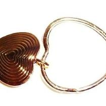 Dangling Heart Key Ring by Avon in Gold Tone 1986 New in Box - Gift Photo