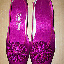 Daniel Green Women's Slippers Tiffany Style Wine Color Size 2a7.5 Nibnr Photo
