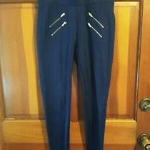 Dark Blue Black 1981 Guess Skinny Pants With Gold Zippers Photo