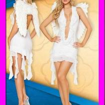 Dark Fallen Angel Costume White Dress  Wings Halloween Fancy Full Set Ysf8841w Photo