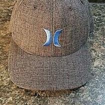 Dark Gray Men's Hurley Flexfit Hat / Cap Size L-Xl Yupoong Photo