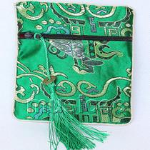 Dark Green Jewelry Pocket Money Silk Zipper Bags Pouches T873a03 Photo