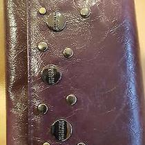 Dark Purple Kenneth Cole Stud Checkbook Wallet Credit Card Purse Clutch Wristlet Photo