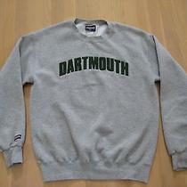 Dartmouth College Crewneck Sweatshirt Gray With Fuzzy Green Lettering Jansport M Photo