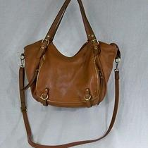 David Jones Adjustable Crossbody Slouchy Hobo Handbag Purse Large Tan Cute Bag Photo