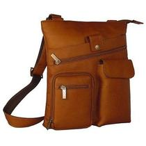 David King & Co. Multi Pocket Cross Bag - Tan  457t Photo