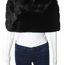 David Meister Black Faux Fur Chic Winter Stole Shawl Sz L Photo
