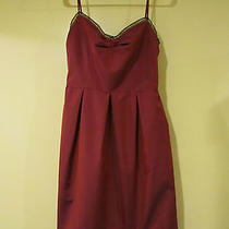 David Meister Red Sleeveless Dress - Size 6 - Prom Party Clubwear Photo