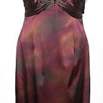 David Meister Silk Satin Dress Sz 10 Nwt 398 Photo