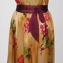 David Meister Silk Satin Dress Sz 8 Nwot 360 Photo
