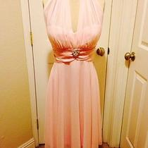 David's  Bridal Blush Bridesmaid Dress Size M Photo