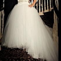 David's Bridal Vera Wang Wedding Dress With Custom Crystal Belt Photo