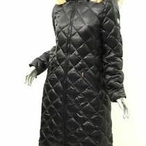 Dawn Levy Black Kali Coyote Fur Trim Quilted Coat M Photo