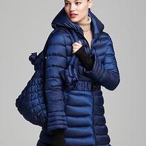 Dawn Levy Blue Judy Belted Down Coat With Tote Bag  Sizem 675  Nwt Photo