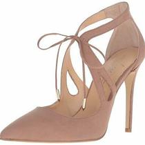 Daya by Zendaya Womens Aaron Pointed Toe Ankle Strap D-Orsay Pumps Blush Size Photo