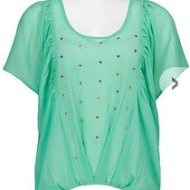 Daytrip Flowy Studded Aqua Seafoam Green Top Buckle Small Photo