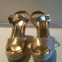 De Blossom Collection Christy 21 Women  Open Toe Synthetic  Wedge Heel Size 8.5 Photo
