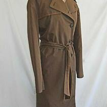 Dead Stock Akris Coat Trench Swagger Dark Camel Quilted Winter Lining Belted 8 Photo