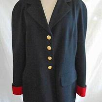 Dead Stock Escada Jacket Blazer Vintage 80s Military Nos Sexy Seaming  Red Cuffs Photo