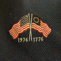 (Deadstock) American Flag Blue Tie Nwt 1776 1976 Bicentennial Campbell's Trinity Photo
