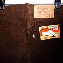 Deadtock Vintage Mod Levis Skinny Needle Cord Pants 29x30 Dark Brown Scovill Photo