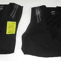 Deal Reebok Women's Easytone Taped Sleeveless Bra Top & Short Sleeve Top Large Photo