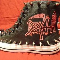 Death Heavy Metal Punk Custom Studded Converse Chuck Shirt Sneakers Shoes Spikes Photo