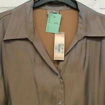 Debenhams Classics Gold Metallic Shine Button Shirt Blouse Uk 16 Bnwt Ga1695 Photo