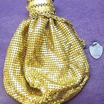 Deco Whiting Davis Expand Gold Mesh Evening Widemouth Purse Handbag  Photo