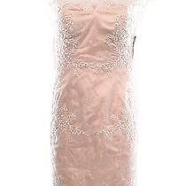 Decode 1.8 New Pink Blush Floral Crochet Lace Women's Size 4 Sheath Dress 229 Photo