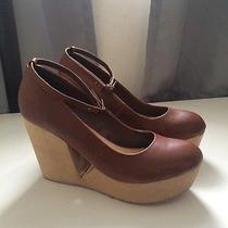 Deena and Ozzy Women's Wedge Heels Ankle Strap Urban Outfitters 9 Photo
