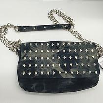 Deena & Ozzy Urban Outfitters Blue Denim Skull Chain Crossbody Handbag Purse 49 Photo