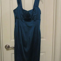 Deep Aqua Calvin Klein Knee Length Dress - Size 6 Photo
