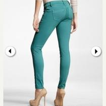 Deep Peacock Colored Skinny Jeans by Express  Photo