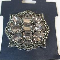 Deepa Gurnani Large Grey Crystal Hairclip Nwt 45 Photo