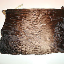 Degrade Brown Colors Gorgeous Swakara or Broadtail Lamb Fur Muff / Purse  Euc Photo