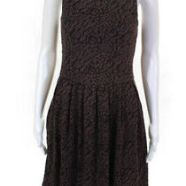 Deletta Anthropologie Womens Knit Leopard Sleeveless a-Line Dress Brown Size Xs Photo