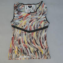 Deletta for Anthropologie Sleeveless Blouse Paint Strokes Medium  A1 Photo
