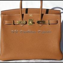 Deluxe Gold 35cm Hermes Birkin Bag/gold Photo